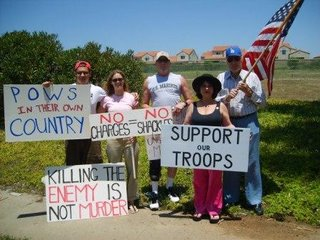 Pictures from the San Diego Rally in Support of Marines