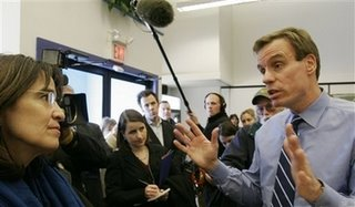 former Virginia Governor Mark Warner in this Friday