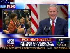 Bush Pokes Reporters at Presser, CNN Asks for Show of Respect for Ahmadinejad