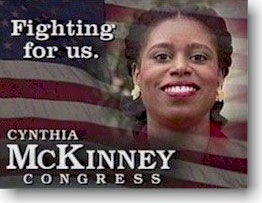 Cynthia McKinney plays the race card