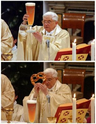 Is the Pope Hitler? (or Sam from Cheers?)