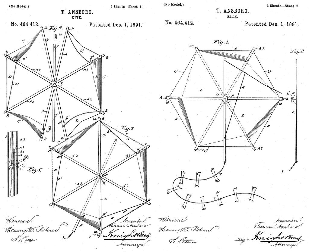 kite patents  may 2006