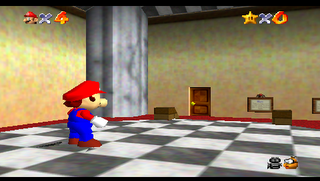 Super Mario 64 with new clipping code