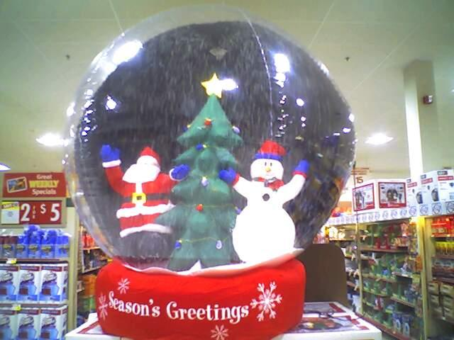 attack of the giant snow globes - Large Christmas Snow Globes