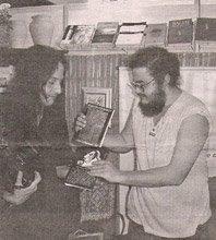 Dois dos editores da Spectro, Paulo de Tarso e Fabio Soares, durante lançamento