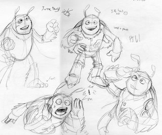 some june bug sketches