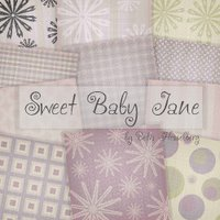 Digital Scrapbook Kit: Sweet Baby Jane