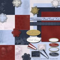 Christmas Postcard Kit