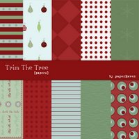 Digital Christmas Kit - Keri's Trim Tree Papers