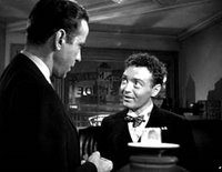 Humphrey Bogart and Peter Lorre in The Maltese Falcon