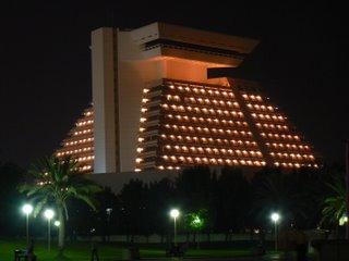 The Sheraton Hotel at night