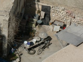 A courtyard in a poor area of Doha
