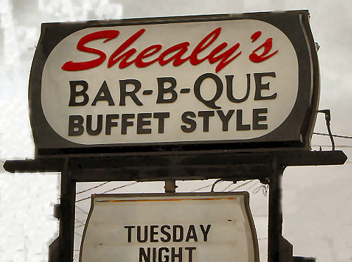 Shealy's BBQ Sign