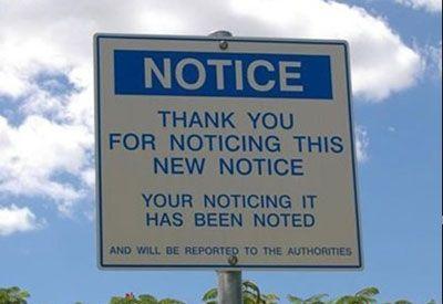 notice funny