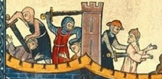 Detail from the cover of Thomas Asbridge's book, The First Crusade