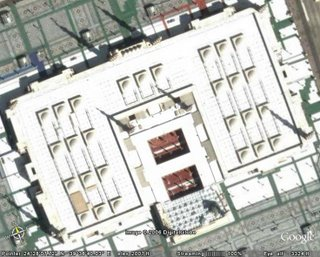 Masjid al Nabawi, by Google Earth