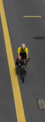 Bicyclist on Geylang Road