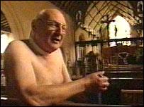 Posing nude for the Holy Trinity Church (Barsham, UK) calendar