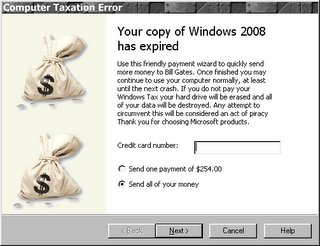 Your copy of Windows 2008 has expired
