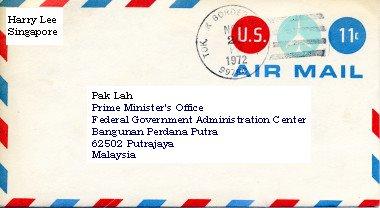 where to write address on envelope