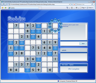 Sudoku application in the browser, created using .NET Framework 3.0