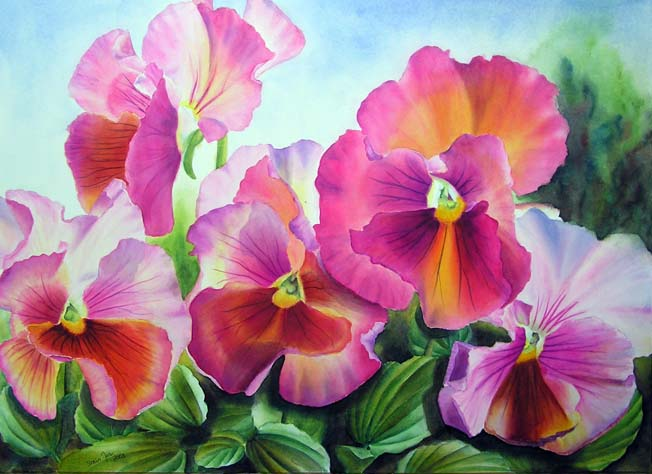Pansies pansies pansies watercolor oil paintings of roses and pansies pansies pansies mightylinksfo