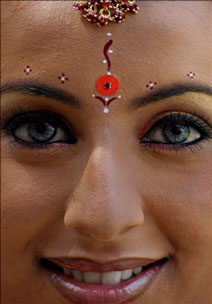 A Indian Model with a Chip on her Bindi