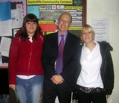 abby Laura and Mr Brown the school head hunk