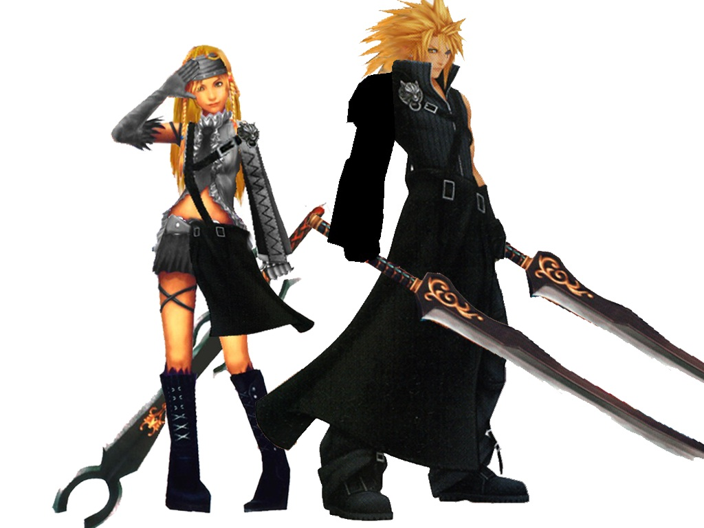 final fantasy characters cloud and tifa