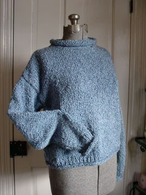 Roll Neck Sweater Patterns - Long Sweater Jacket