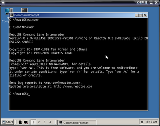 ReactOS Command Prompt