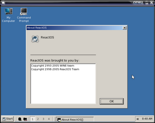 ReactOS About box