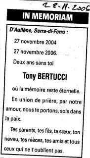 Décès Bertucci Tony
