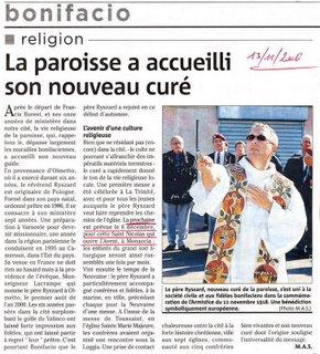 Nouveau Prêtre à Monacia