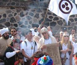 En Teotihuacan con el Cerrador del Ciclo, el Maestro Valum Votam se reunieron muchos de los aspirantes a Magos de La Tierra y quienes colaboran con la Difusion de este Despertar