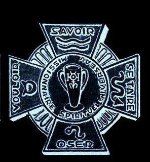 Emblema del Maestre Dr. De La Ferriere, que usara en 1948. Click aqui para conocer mas sobre la Alta Iniciacion.