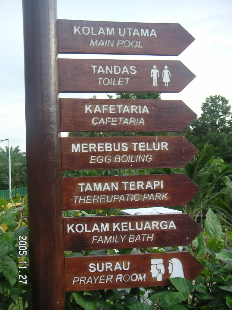 Sungai klah hot springs - Another Signboards Showing The Facilities Available In This Well Taken Care Park