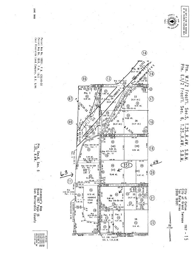 GrandTerraceNews: Documents and Opinion: Property Map Related to