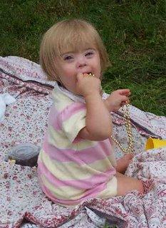 Gillian with beads