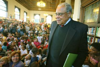 James Earl Jones at Knight Memorial Library