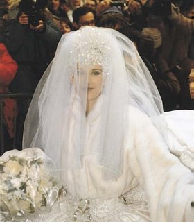 Céline Dion at her wedding, in 1994.© La Presse ; Bernard Brault, photographer