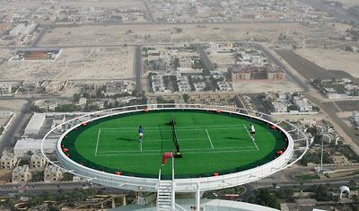 Likes Dis Likes Tennis Court Of Burj Al Arab In Dubai