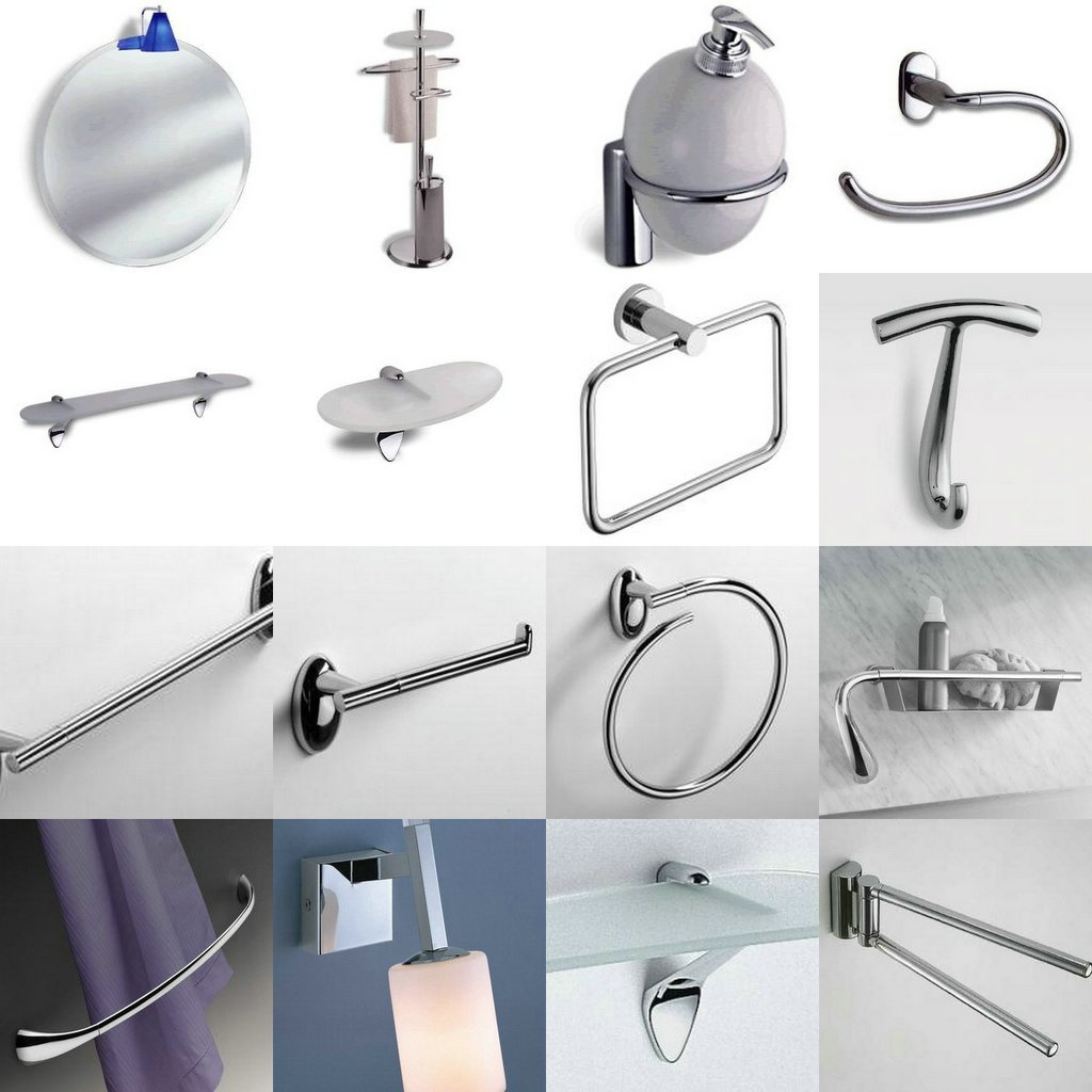 Knobs hinges and more decorative hardware colombo for Contemporary bathroom accessories