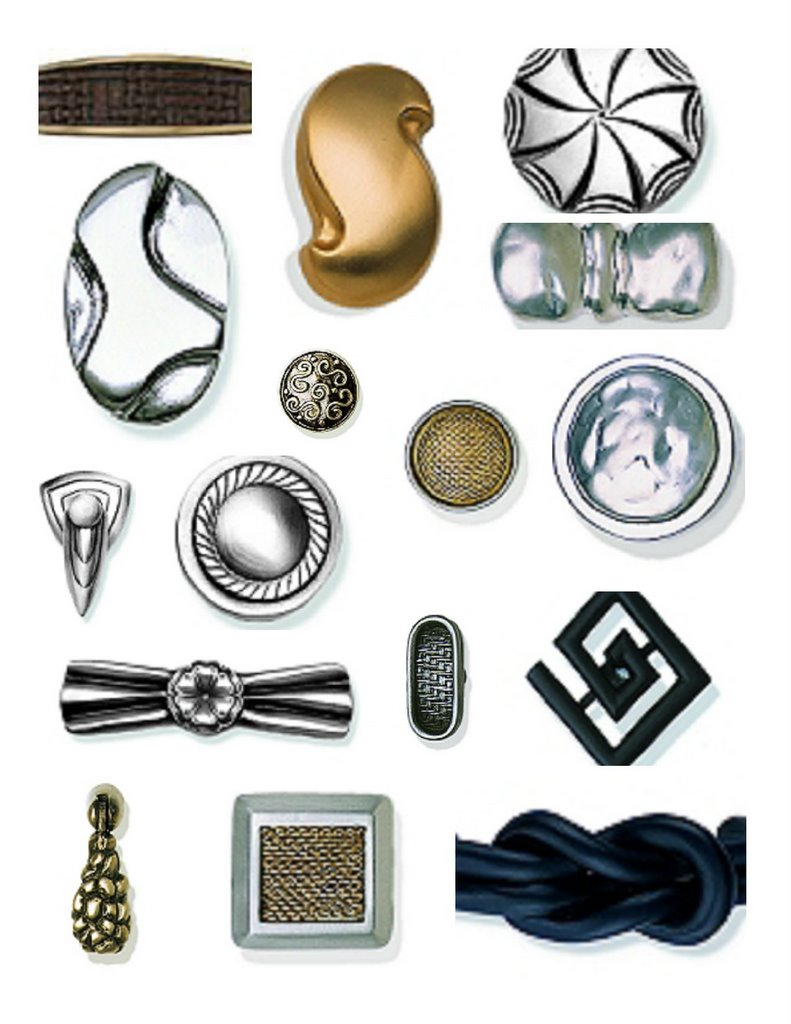 PULLWARE-Cabinet Hardware. The most unique design with the most understated  name brings the look of hammered metal and artwork