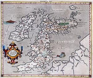 Ptolemy map of Britain, circa 150 AD