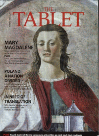 cover of Catholic Tablet showing Mary Magdalene