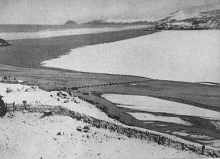 Site of lost port of Langarrow in winter