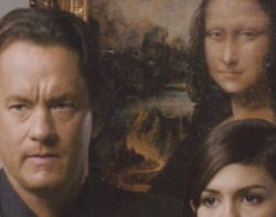 Tom Hanks, Audrey Tautou, Mona Lisa painting