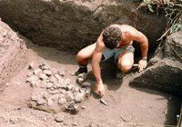 A muscly archaeologist