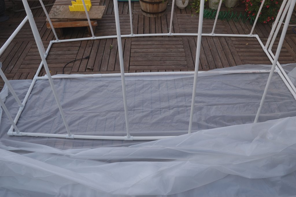 How to build a PVC greenhouse: PVC Greenhouse: Wrapping the greenhouse